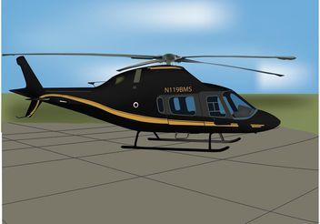 Black Helicopter Vector - Free vector #154167