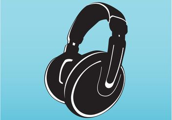 Vector Headphones Illustration - vector gratuit #154297