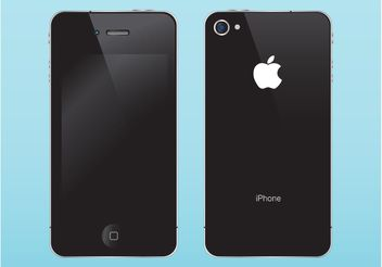 Apple iPhone Illustration - Free vector #154307