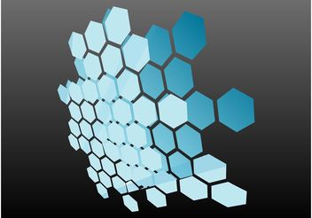 Honeycomb Graphics - vector gratuit #154347