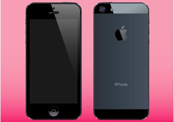 iPhone 5 - vector #154367 gratis