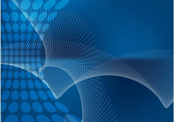 Blue Abstract Fan Background - Free vector #154387