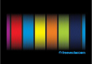Rainbow Vector Background Design - Free vector #154467