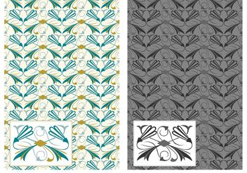 Free Flourish Art Deco Vector Pattern - Kostenloses vector #154607