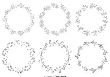 Decorative Floral Frames - Free vector #154737