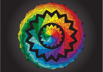 Geometric Rainbow Design - Free vector #154877