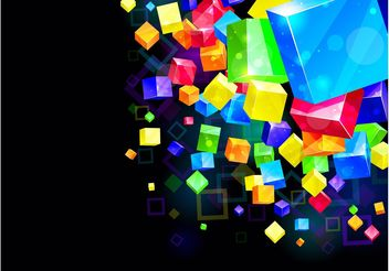 Colorful Cubes Background - vector gratuit #154937