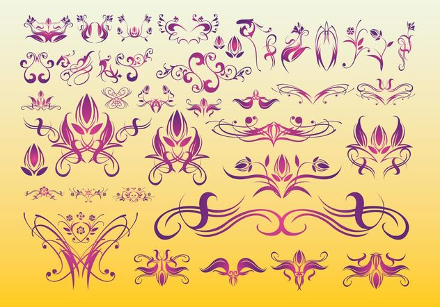 Floral Tattoo Art - Free vector #154987
