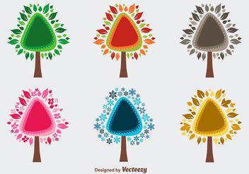 Seasonal Trees - vector gratuit #155067