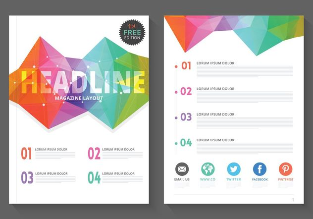 Free Geometric Magazine Layout Vector - Free vector #155087