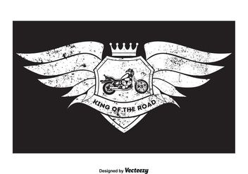 Grunge Style Motorcycle T Shirt Design - Free vector #155137