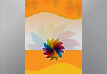 Floral Poster - Free vector #155257