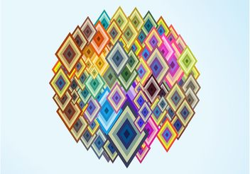 Colorful Diamond Shapes - Kostenloses vector #155267