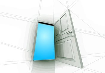 Open Door - vector gratuit #155277