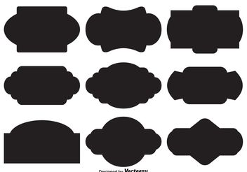 Vector Label Shapes - Kostenloses vector #155357