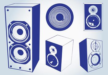 Music Speakers Vectors - бесплатный vector #155467