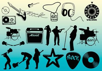 Free Rock Music Vectors - vector gratuit #155517