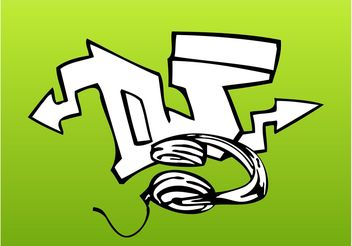 DJ Graffiti Piece - Free vector #155527
