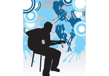 Guitar Player Poster - vector gratuit #155547