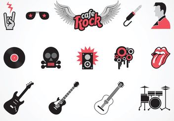 Free Vector Rock Music Symbols - vector gratuit #155597