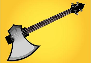 Axe Guitar - vector gratuit #155607