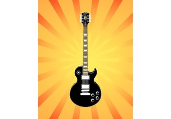 Electric Guitar Illustration - Free vector #155637