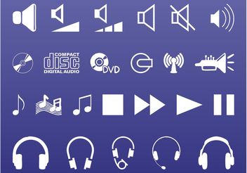 Sound And Music Icons - Free vector #155647