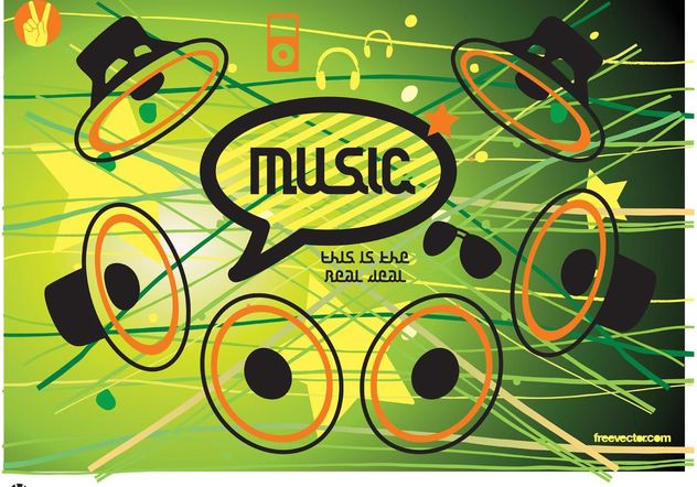 Music Speaker Vector Icons - vector gratuit #155677
