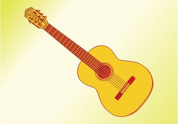 Acoustic Guitar Graphics - Free vector #155717