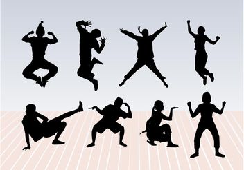 Dance Pose Silhouettes - Free vector #155727