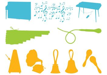 Music Graphics Set - vector gratuit #155777