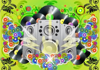 Rock Party Vector - Free vector #155887