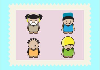 Cartoon Kids Pack - vector gratuit #155897