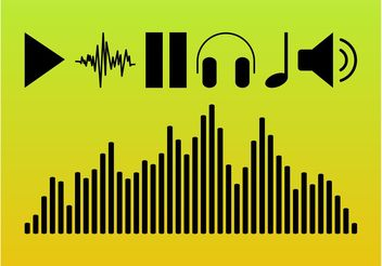Audio Symbols - Free vector #155907