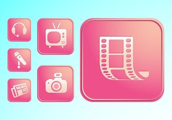 Media Buttons - vector gratuit #155937
