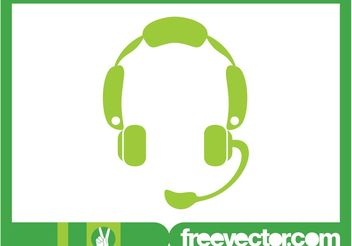 Headset Icon Graphics - Free vector #155967