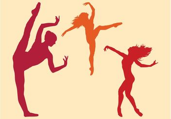 Dancing Ballerinas - Free vector #156037