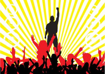 Party Crowd Background - Free vector #156077