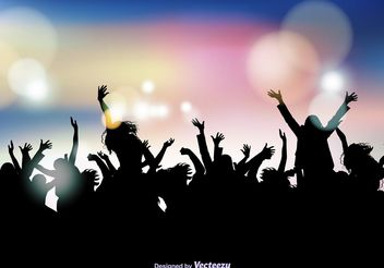Party Crowd Background - Kostenloses vector #156087