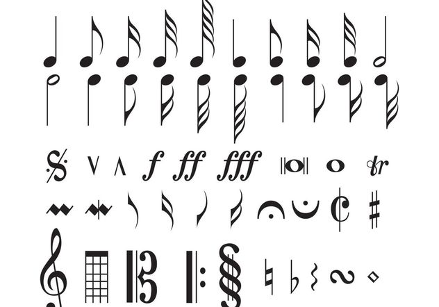Musical Notes - Free vector #156167