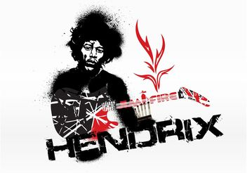 Jimi Hendrix Graphics - Free vector #156207