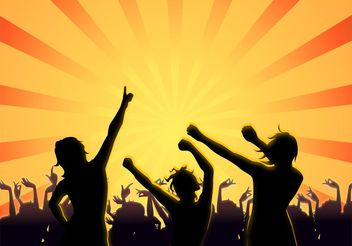 Party People Silhouettes - Free vector #156247