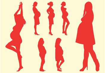 Silhouettes Of Pregnant Women - Free vector #156357