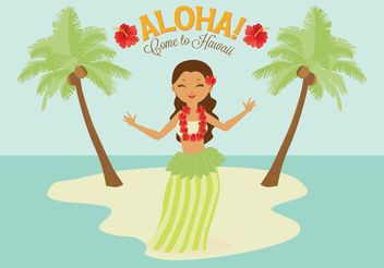 Free Polynesian Hula Female Dancer Vector - бесплатный vector #156407