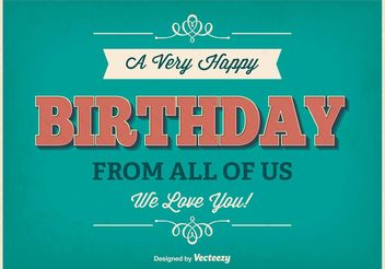 Typographic Birthday Poster - vector gratuit #156417