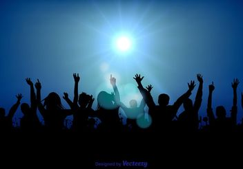 Party Crowd Illustration - Free vector #156447