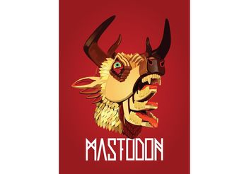 Mastodon - the hunter Vector - vector #156467 gratis
