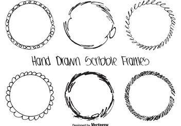 Hand Drawn Scribble Frame Set - Kostenloses vector #156557