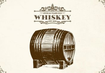 Free Hand Drawn Whiskey Barrel Vector - Free vector #156657
