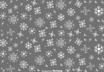 Snow Flakes Doodles Vector Set - Free vector #156677